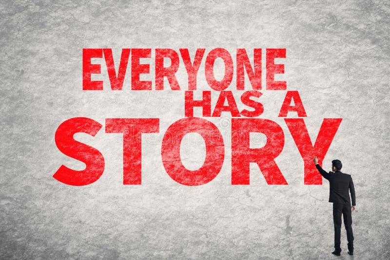 Ognuno ha una storia fotografia stock