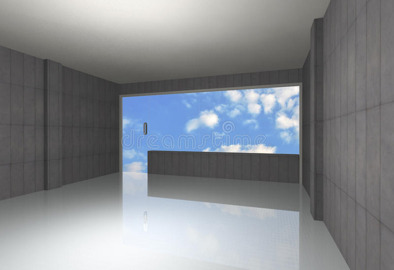 Ogołaca betonowego pokój ilustracji