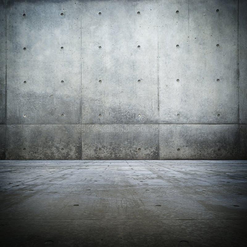 ogołaca grunge betonowego pokój zdjęcia royalty free