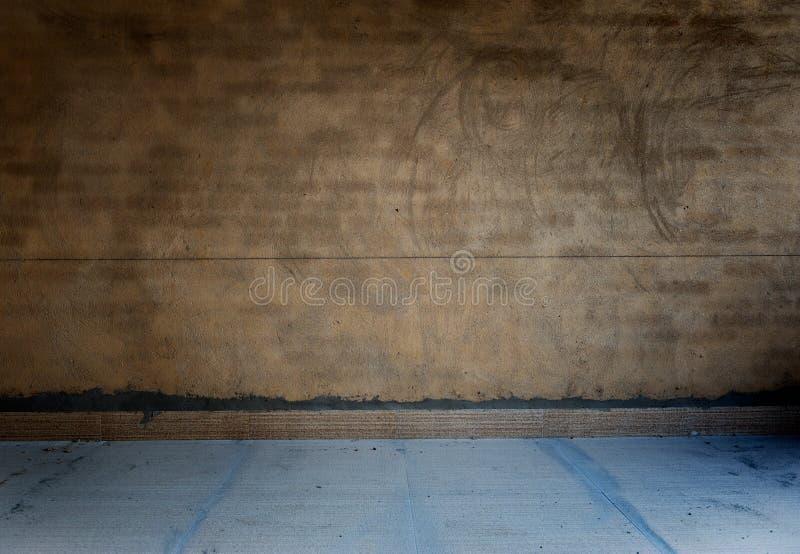 ogołaca grunge betonowego pokój zdjęcie royalty free