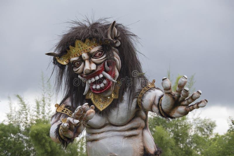 Ogoh-ogoh雕象在巴厘岛,印度尼西亚 免版税图库摄影