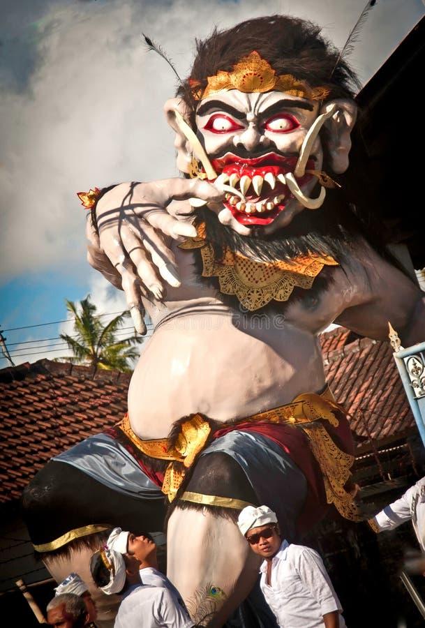 Ogoh-Ogoh statyer, Bali, Indonesien fotografering för bildbyråer
