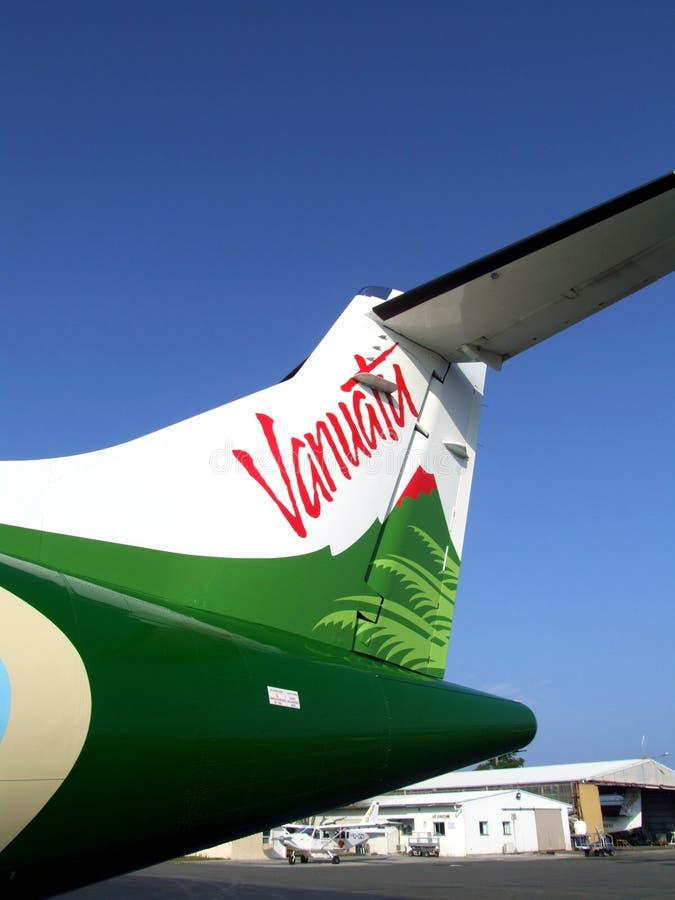 Ogon Air Vanuatu ATR72 samolot obraz stock