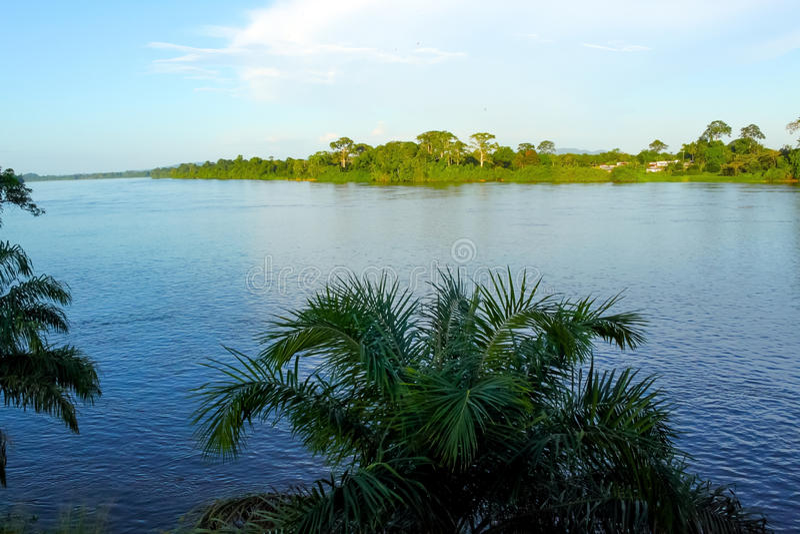 Ogowe flod, Gabon royaltyfria foton