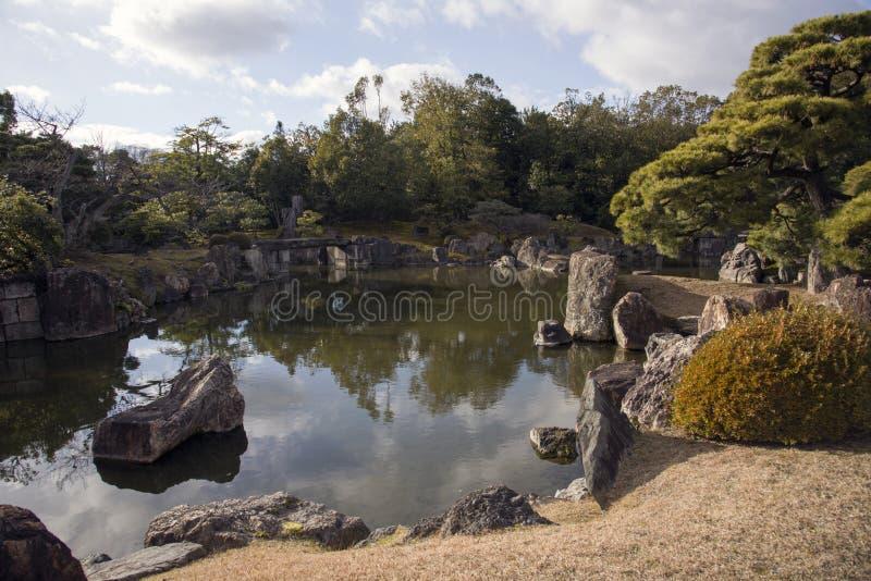 Ogród przy Nijo kasztelem, Kyoto obraz stock