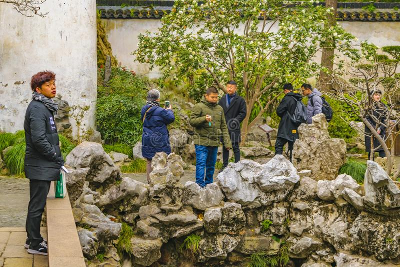 ogród Shanghai yuyuan porcelana obraz royalty free