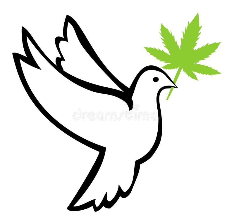Ogräs för fred stock illustrationer