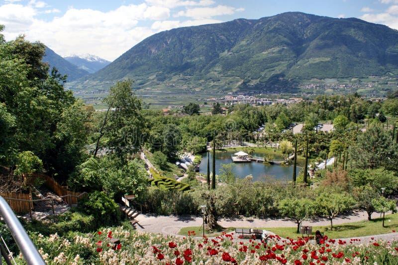 Ogród botaniczny Meran w Południowym Tyrol, Włochy obraz royalty free