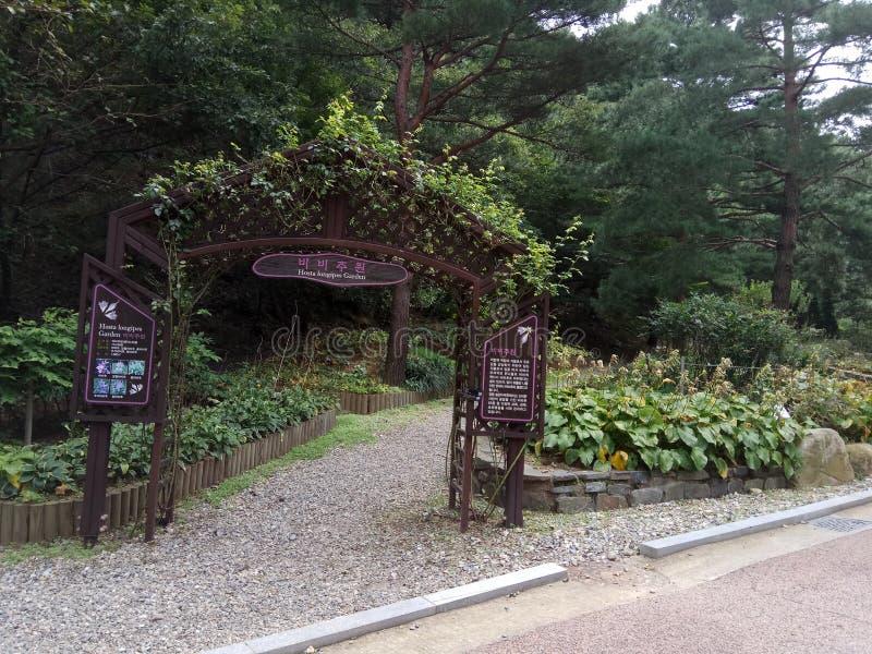 Ogród brama obrazy royalty free