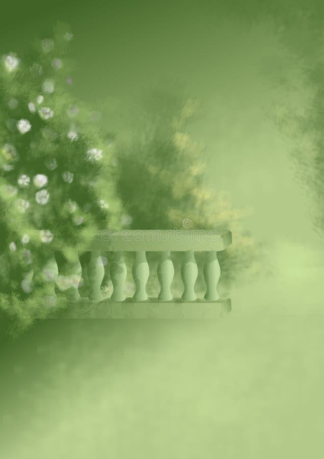 ogród fantazja abstrakcyjne ilustracji