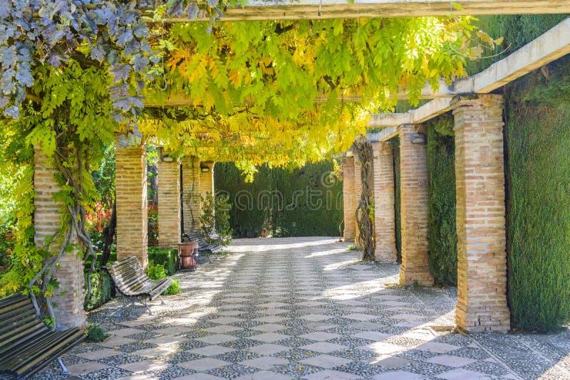 Ogród Generalife, Granada Andalusia prowincja, Hiszpania obrazy stock