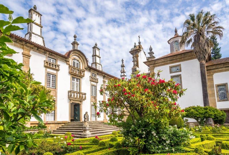 Ogród i pałac Mateus blisko Vila Real w Portugalia zdjęcie stock