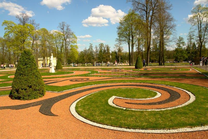 ogród kształtujący teren obraz royalty free