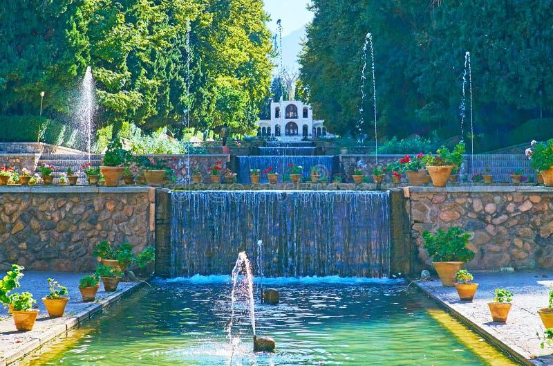 Ogród na delikatnym wzgórzu, Mahan, Iran obraz stock