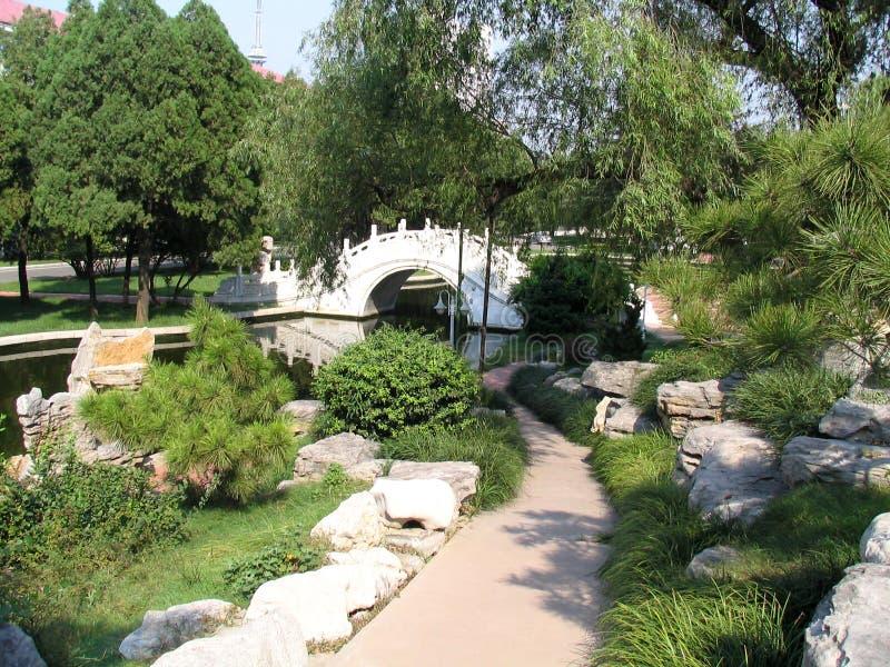 ogród nanjiao mostu obraz royalty free
