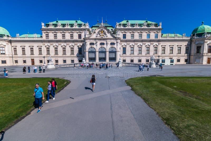 Ogród paÅ'acowy Belvedere w Wiedniu, Austria zdjęcia royalty free