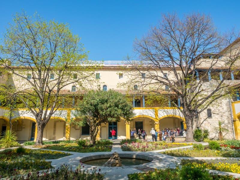 Ogród szpital w Arles, Francja zdjęcia royalty free