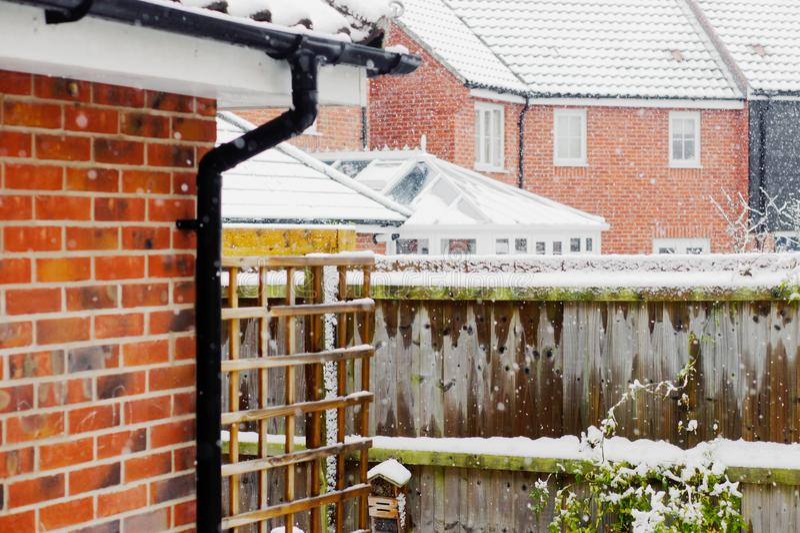  Ogród w śniegu obraz royalty free