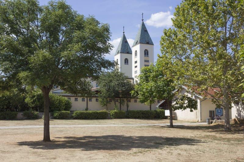 Ogród za świętym miejscem medjugorje zdjęcie royalty free