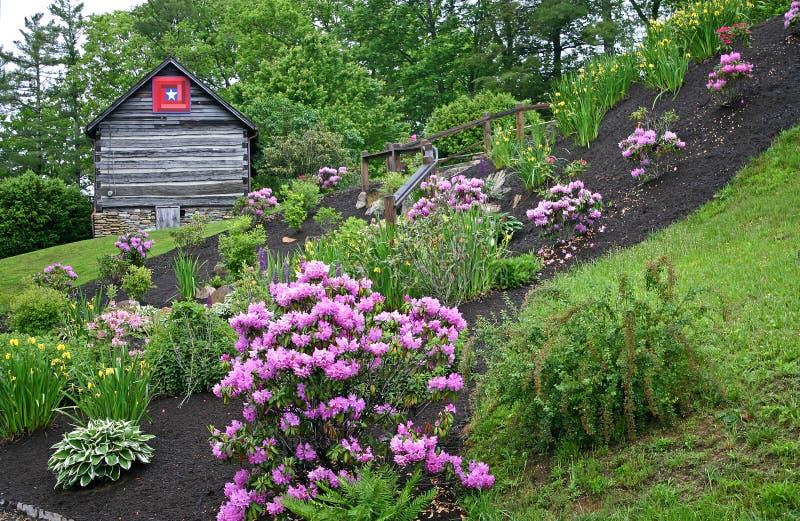 Ogródu & beli kabina zdjęcie stock