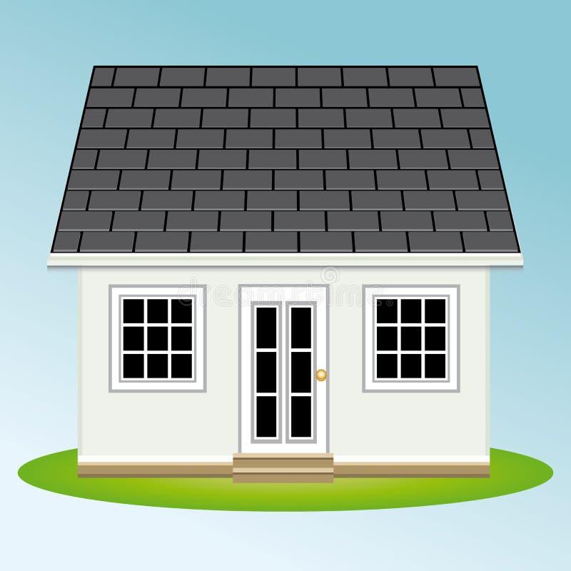 ogródu piękny dom proroctwo mieszkań nieruchomości domów prawdziwego czynszu sprzedaży royalty ilustracja