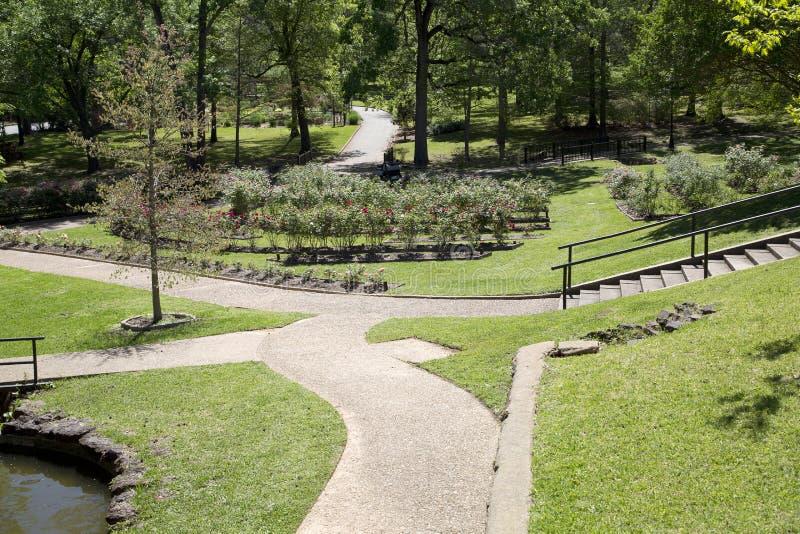 Ogródu różanego projekt w Tyler Teksas obrazy stock