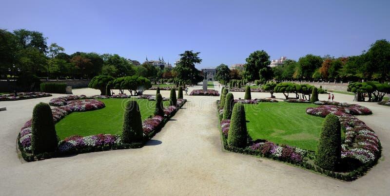Ogródy w parku fotografia stock