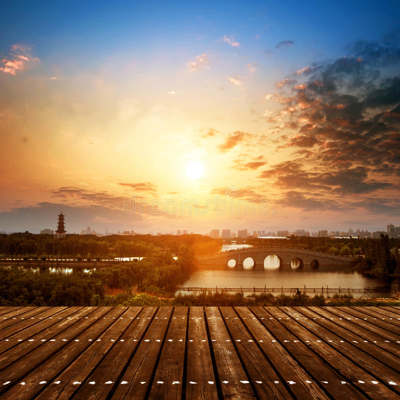 Ogródy w Suzhou, Chiny obraz royalty free