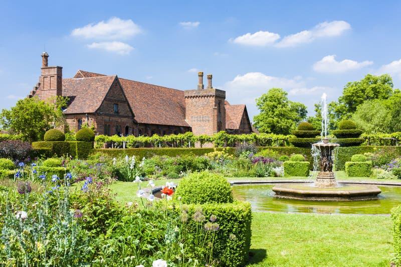 Ogr?d Hatfield dom, Hertfordshire, Anglia zdjęcie stock