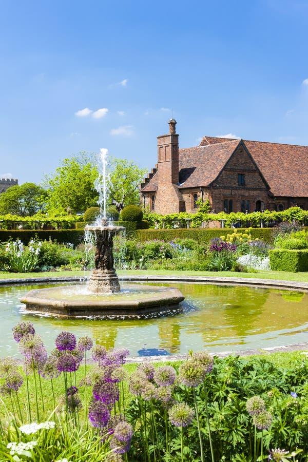 Ogr?d Hatfield dom, Hertfordshire, Anglia fotografia stock