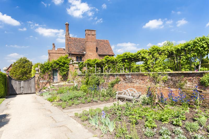 Ogr?d Hatfield dom, Hertfordshire, Anglia obraz royalty free