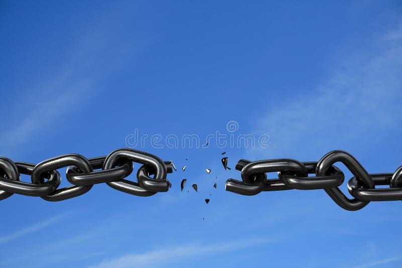 ograniczenia swobodnego złamać nieba wersję zdjęcia royalty free