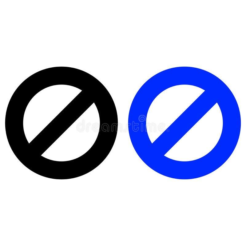 Ograniczenie ikona ilustracja wektor