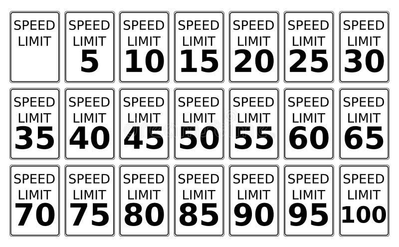 ograniczenie prędkość ilustracji
