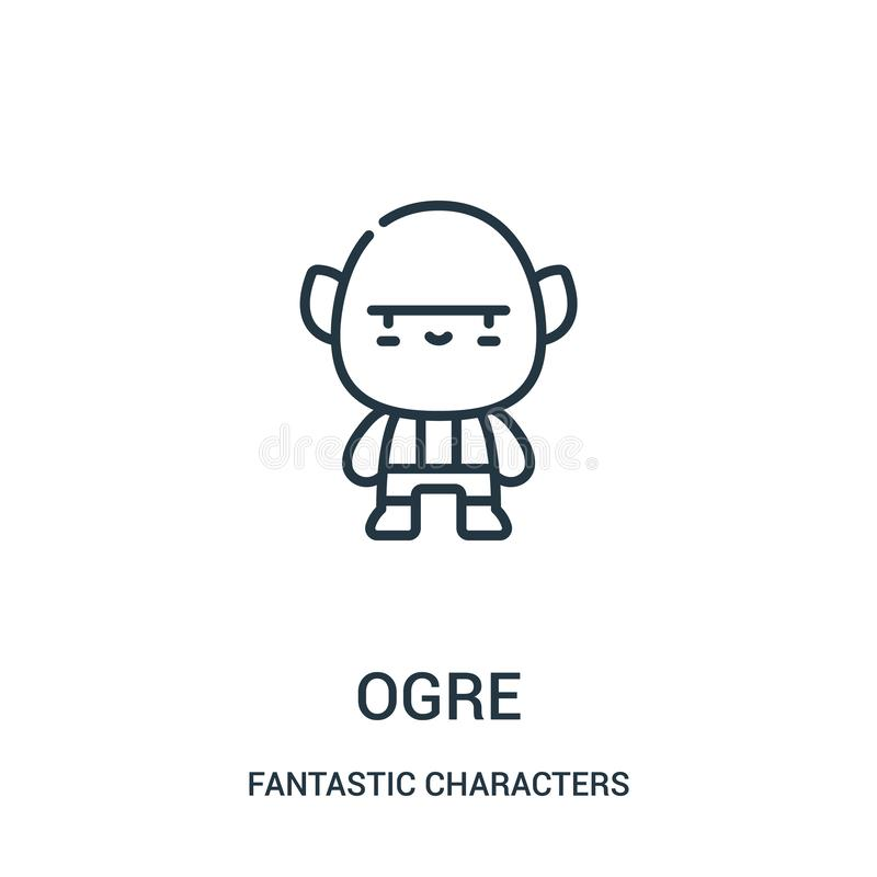 ogre icon vector from fantastic characters collection. Thin line ogre outline icon vector illustration vector illustration
