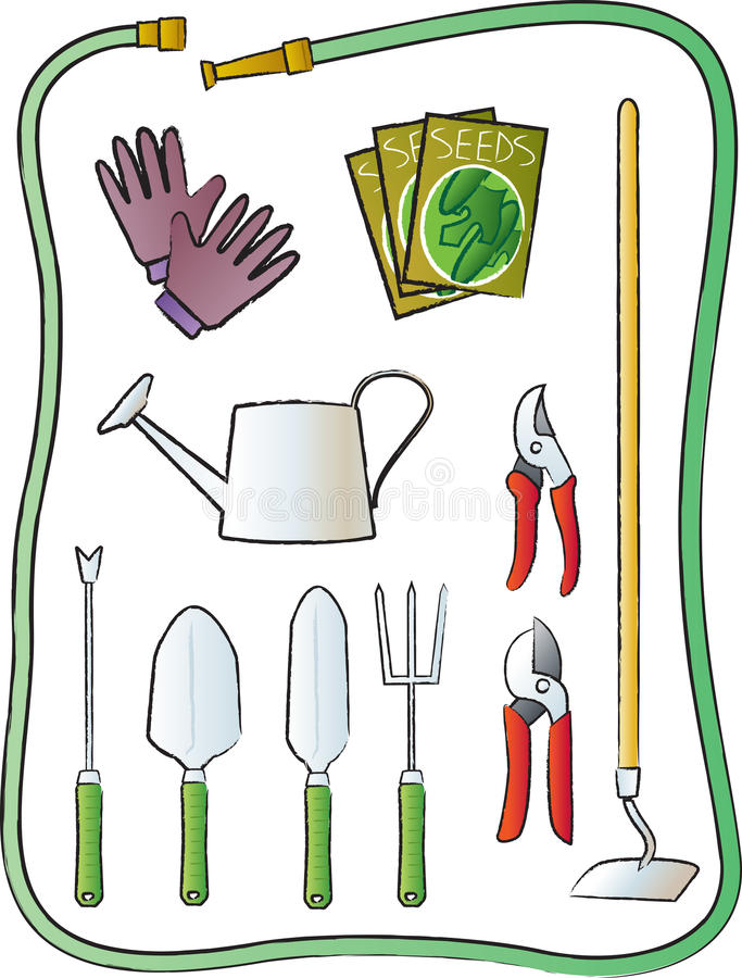 ogrodnictw narzędzia ilustracja wektor