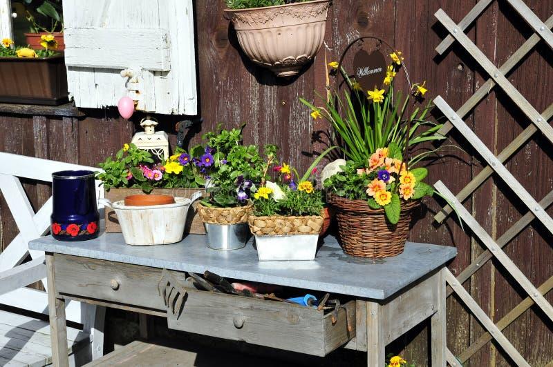 ogrodnictwa flancowania stół zdjęcie stock