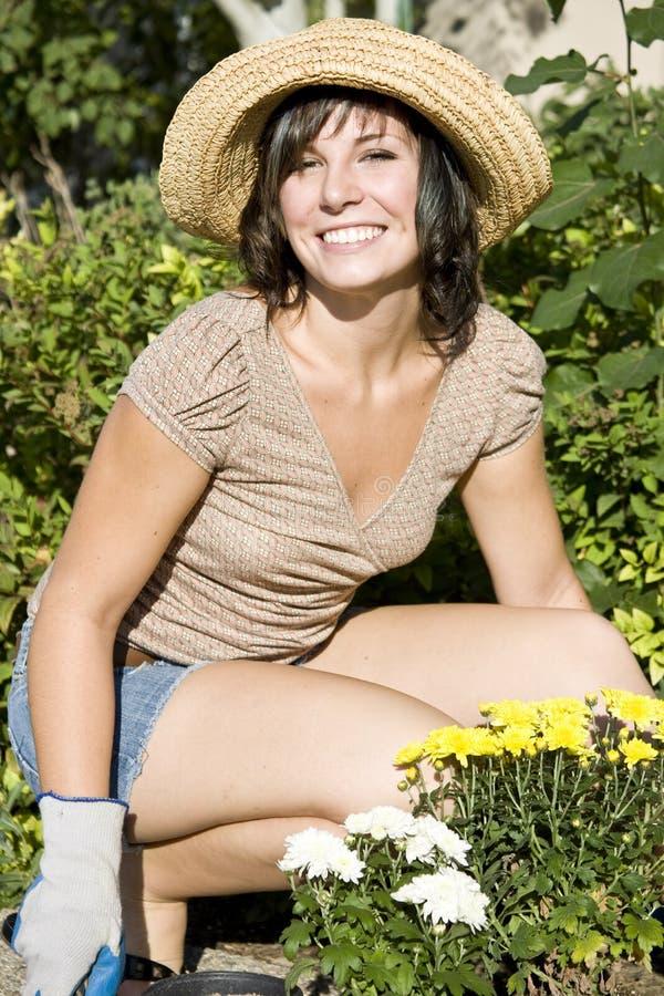 ogrodnictwo kobieta obraz stock