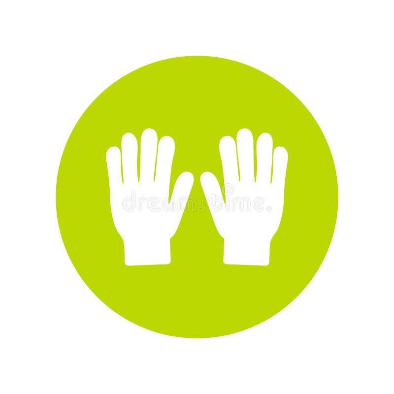 Ogrodnictwo rękawiczek ikony wektorowa sylwetka Ogrodowy podlewania narzędzie w mieszkanie stylu ilustracji