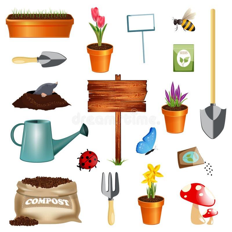 ogrodnictwo set royalty ilustracja
