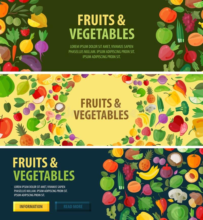 Ogrodnictwo wektoru logo jedzenie lub owoc, warzywa royalty ilustracja