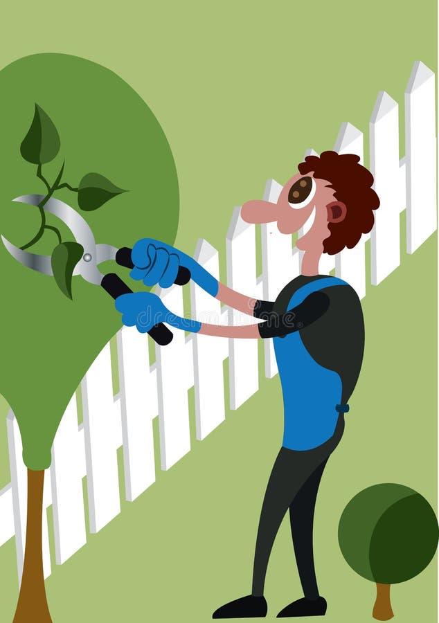 Ogrodniczka przy pracą ilustracja wektor