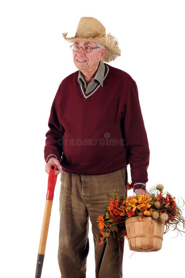 ogrodniczka senior zdjęcie stock