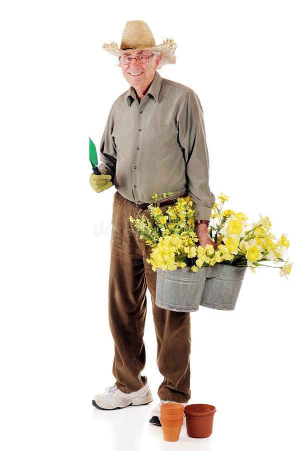 ogrodniczka senior obraz stock