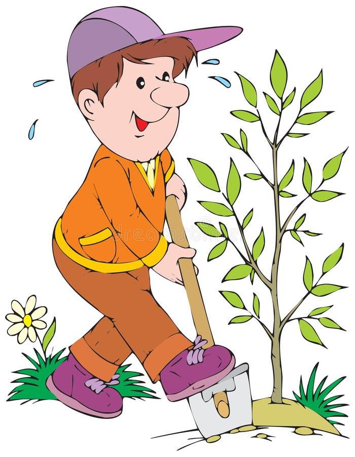 ogrodnik ilustracji
