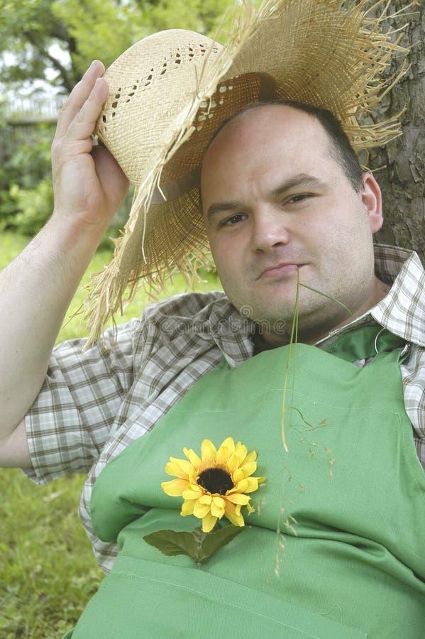 ogrodnik z zadowoleniem przyjmuje obrazy royalty free