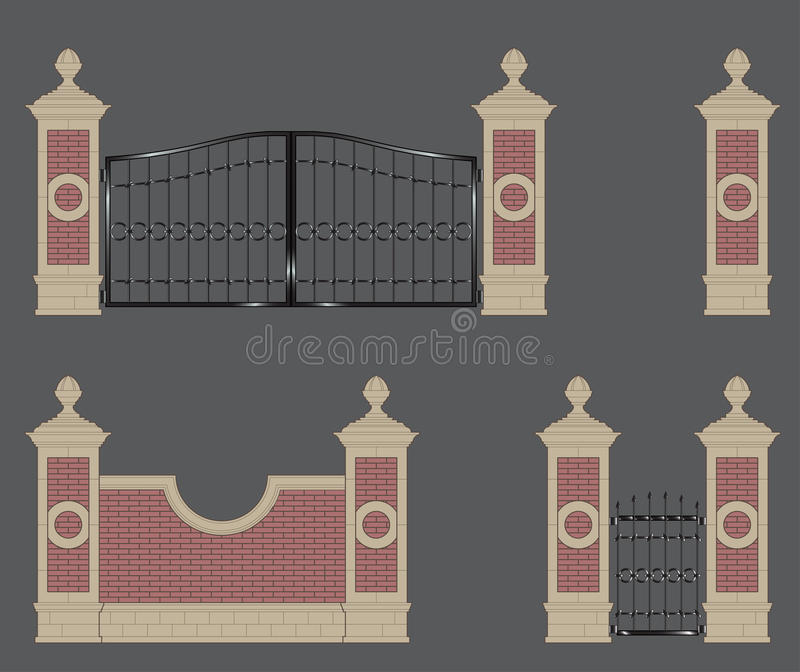 Ogrodowa brama ilustracji