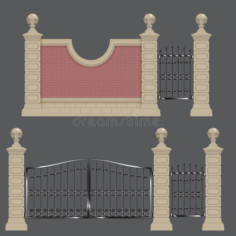 Ogrodowa brama ilustracja wektor