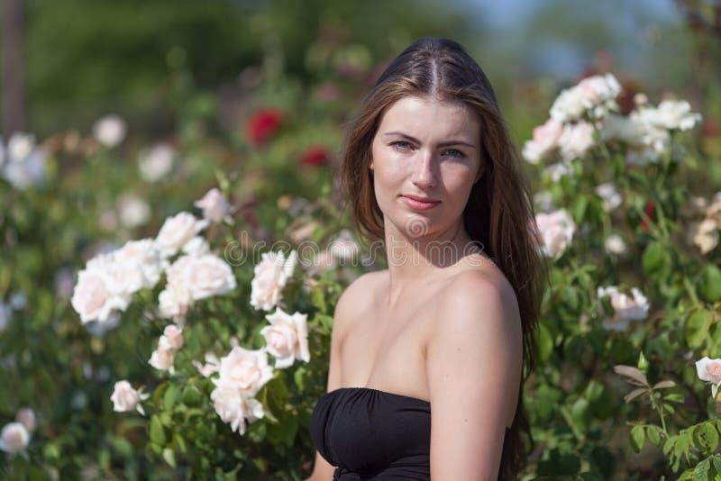 ogrodowa dziewczyna wzrastał fotografia royalty free
