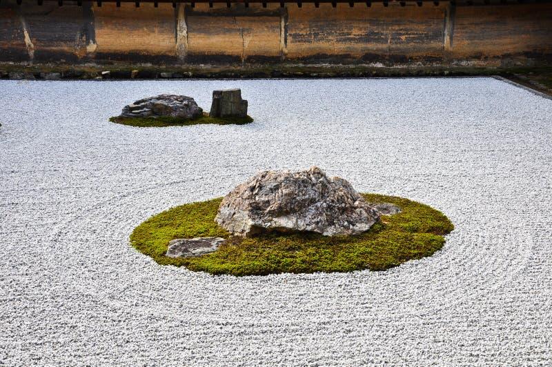 ogrodowa Japan Kyoto ryoanji kamienia świątynia zdjęcia royalty free